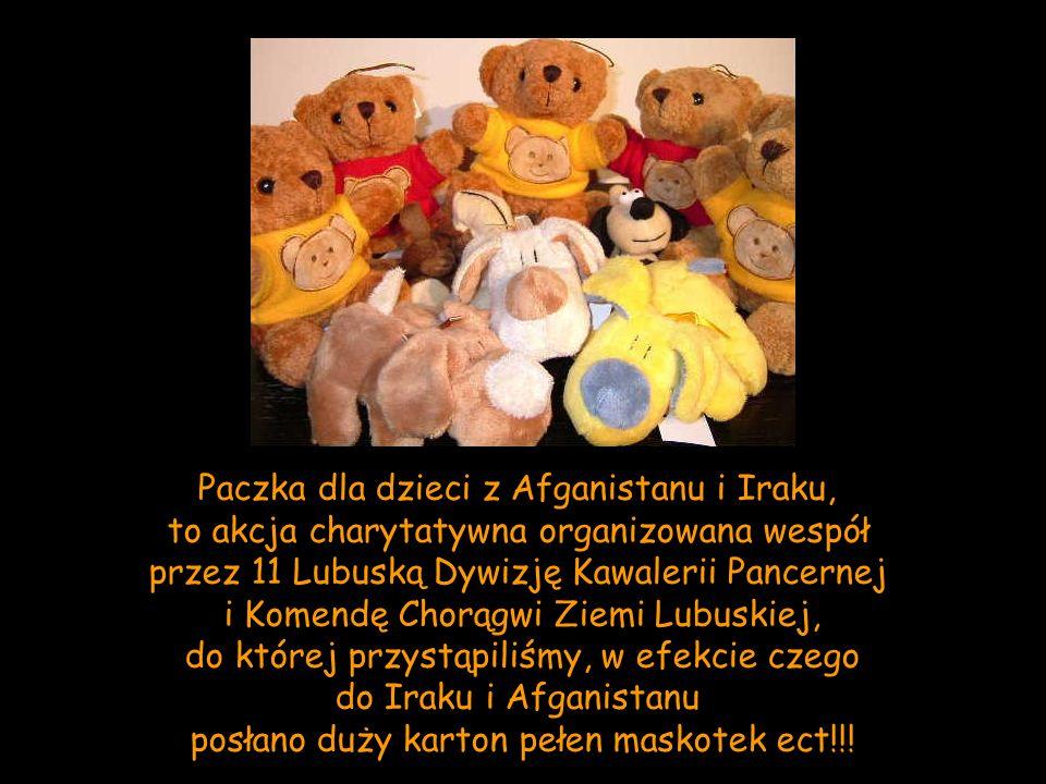 Paczka dla dzieci z Afganistanu i Iraku,
