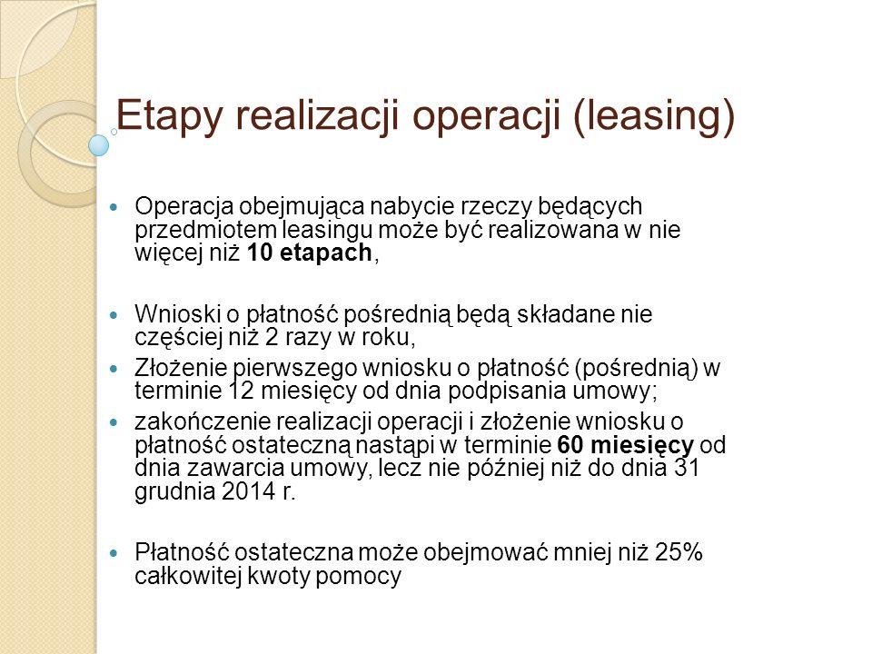 Etapy realizacji operacji (leasing)