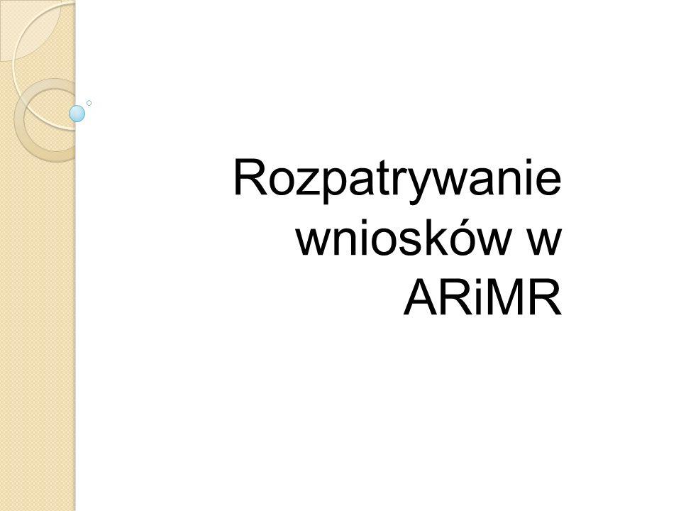Rozpatrywanie wniosków w ARiMR