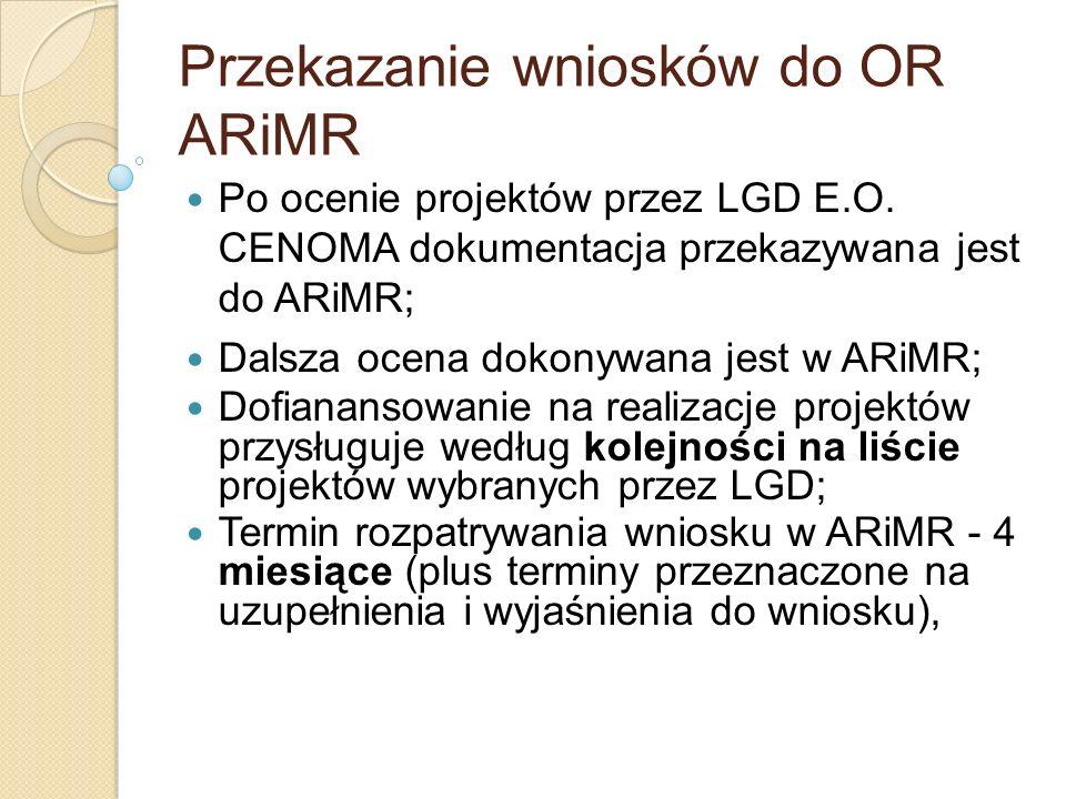 Przekazanie wniosków do OR ARiMR