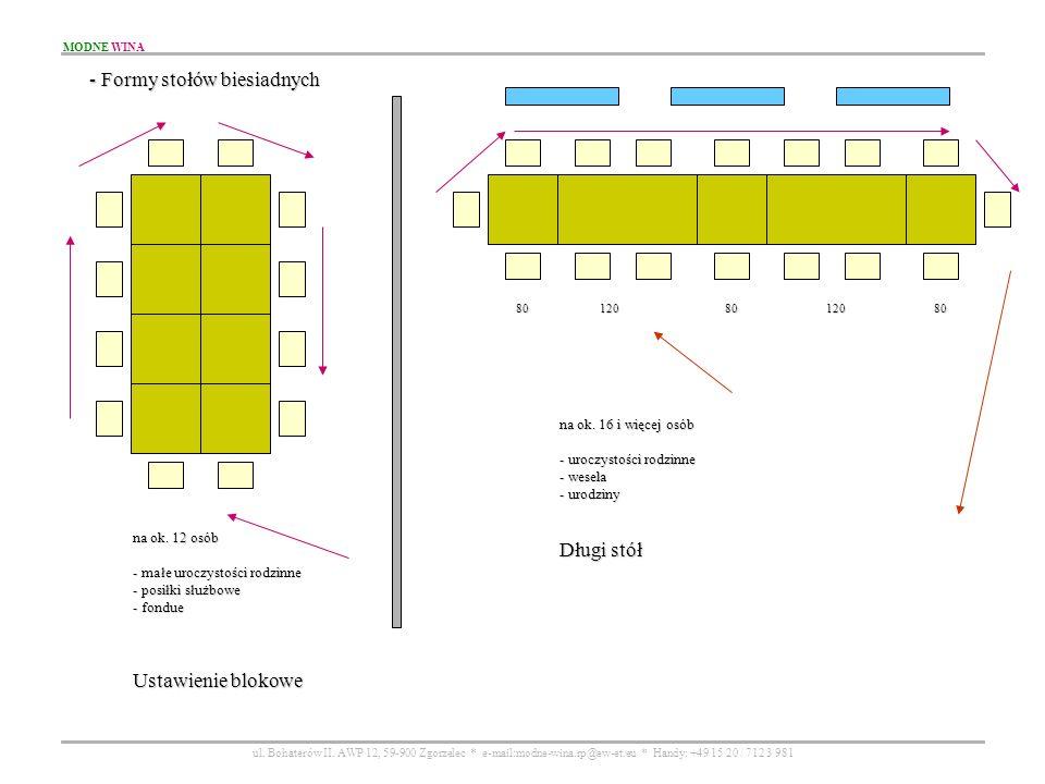 - Formy stołów biesiadnych