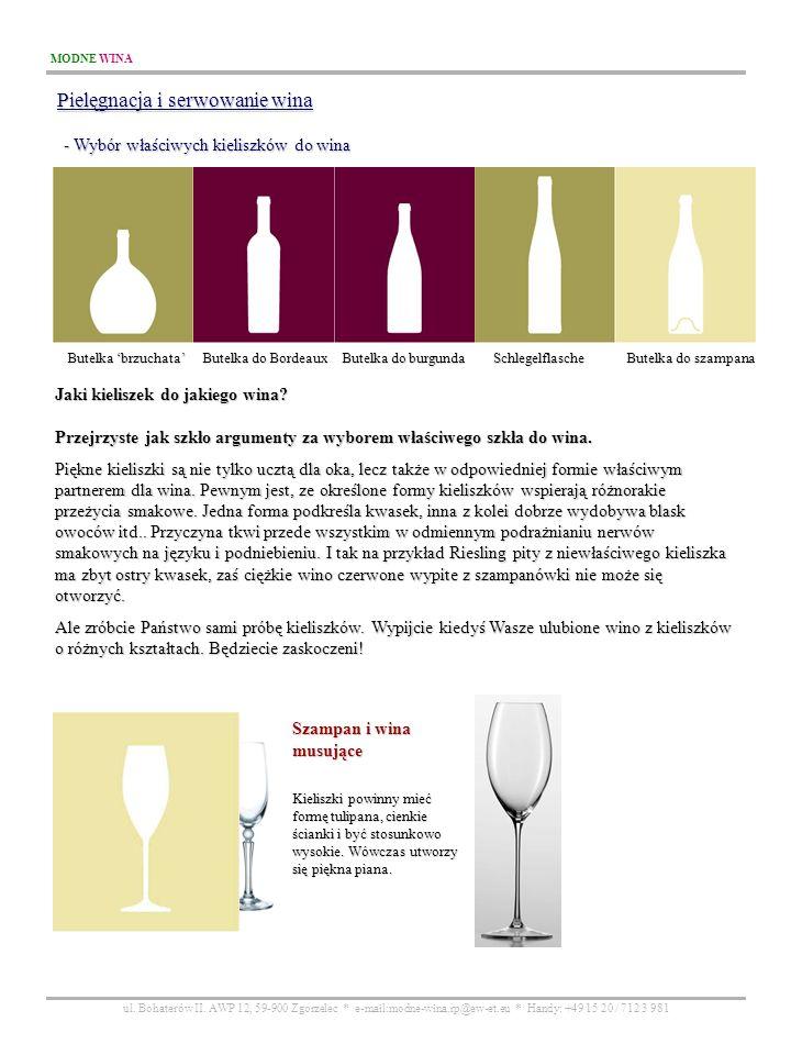 Pielęgnacja i serwowanie wina