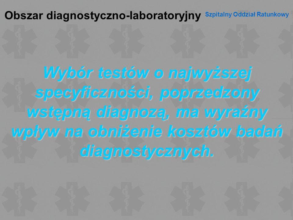 Obszar diagnostyczno-laboratoryjny Szpitalny Oddział Ratunkowy