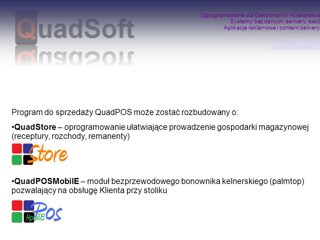 Program do sprzedaży QuadPOS może zostać rozbudowany o: