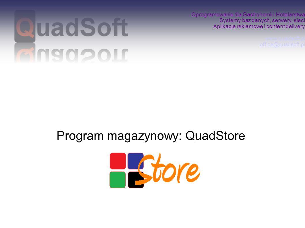 Program magazynowy: QuadStore
