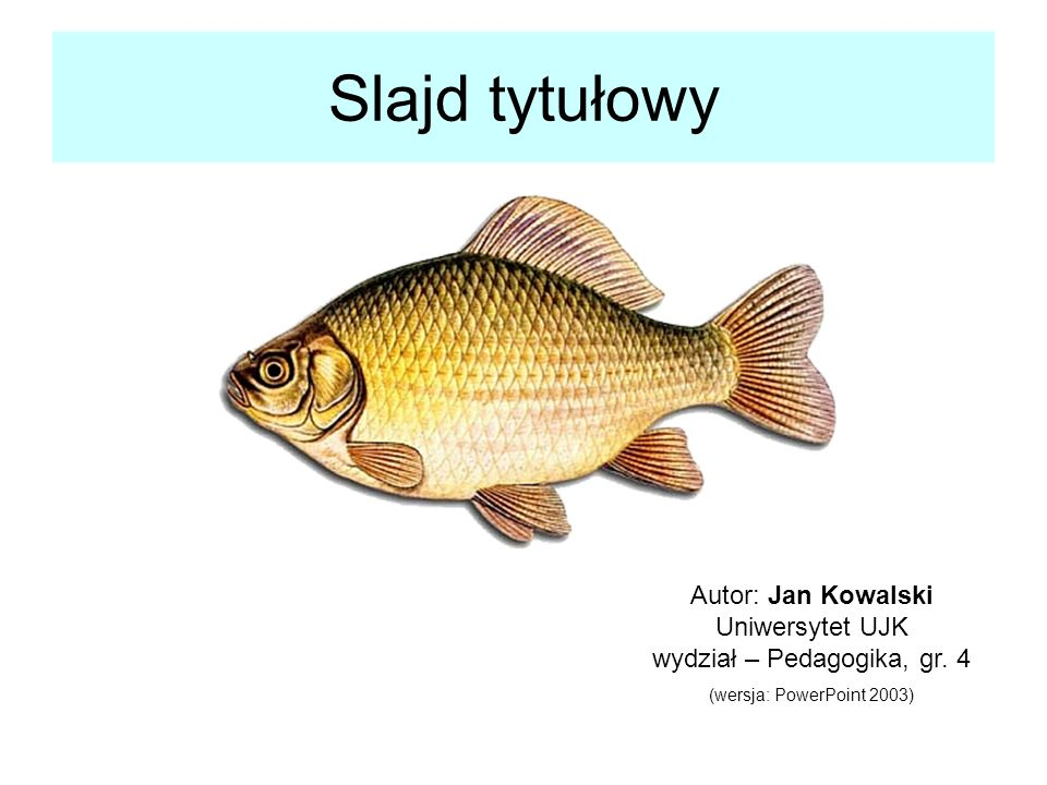 Autor: Jan Kowalski Uniwersytet UJK wydział – Pedagogika, gr. 4