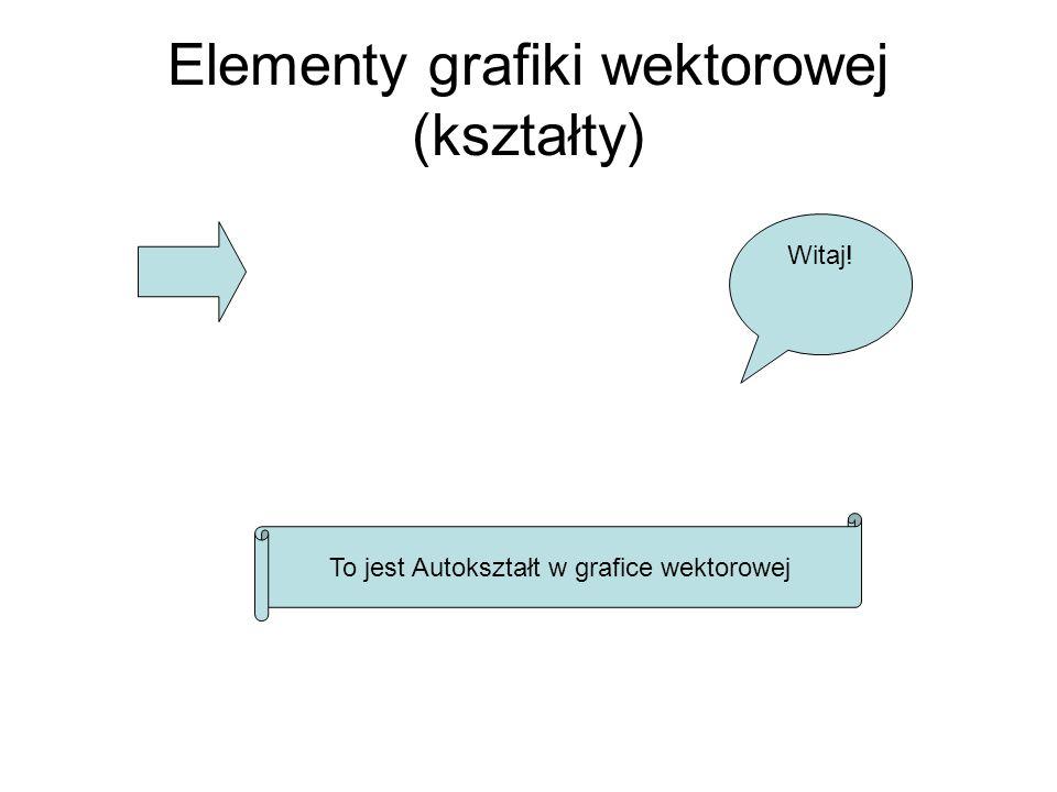 Elementy grafiki wektorowej (kształty)