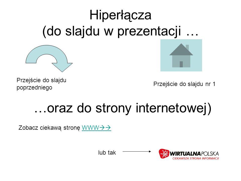 Hiperłącza (do slajdu w prezentacji …