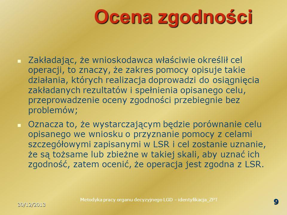 Metodyka pracy organu decyzyjnego LGD – identyfikacja_ZPT