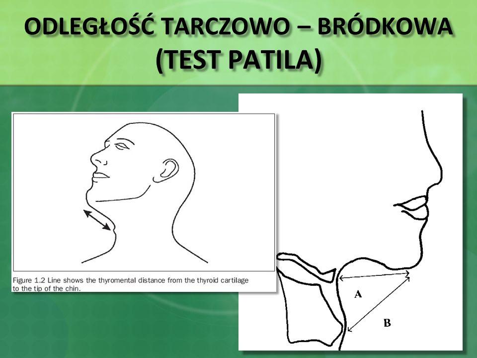 ODLEGŁOŚĆ TARCZOWO – BRÓDKOWA (TEST PATILA)