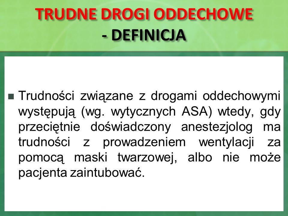 TRUDNE DROGI ODDECHOWE - DEFINICJA