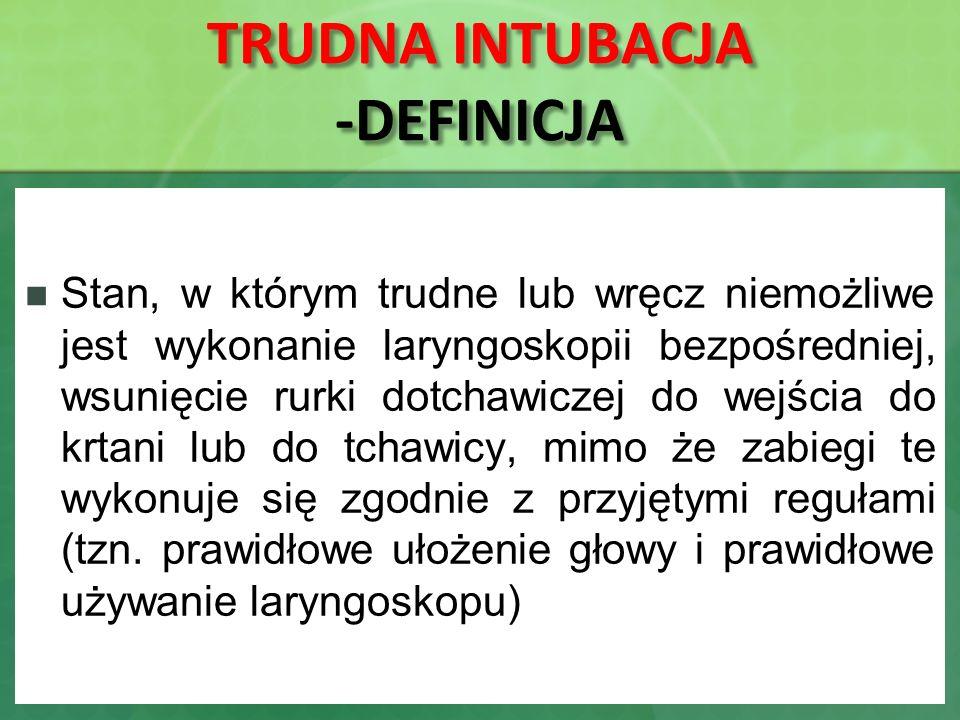 TRUDNA INTUBACJA -DEFINICJA