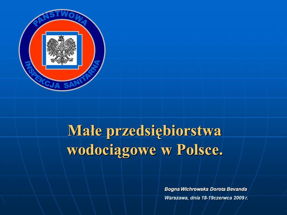 Małe przedsiębiorstwa wodociągowe w Polsce.