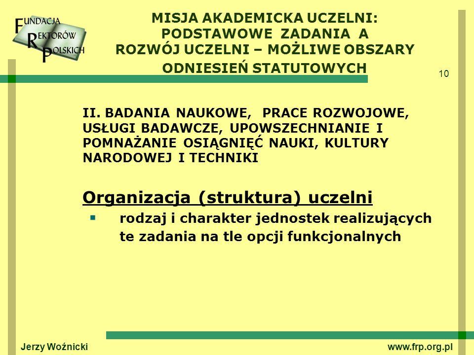 Organizacja (struktura) uczelni