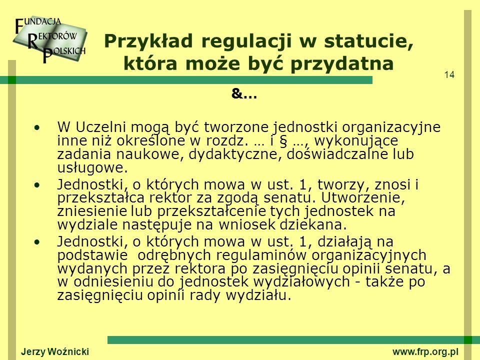 Przykład regulacji w statucie, która może być przydatna