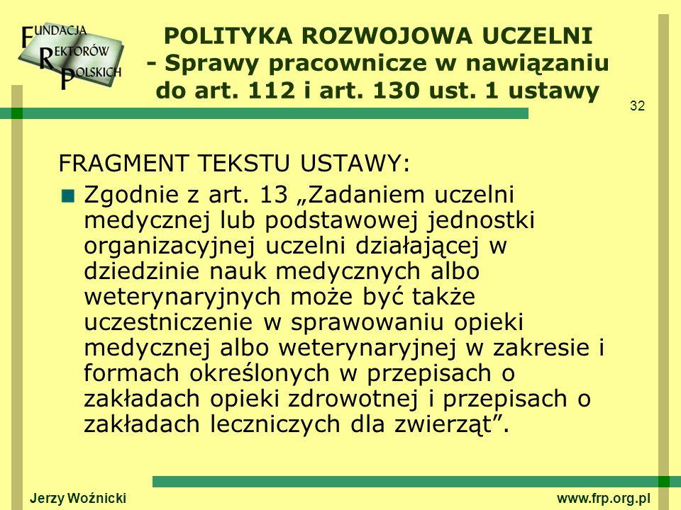 FRAGMENT TEKSTU USTAWY: