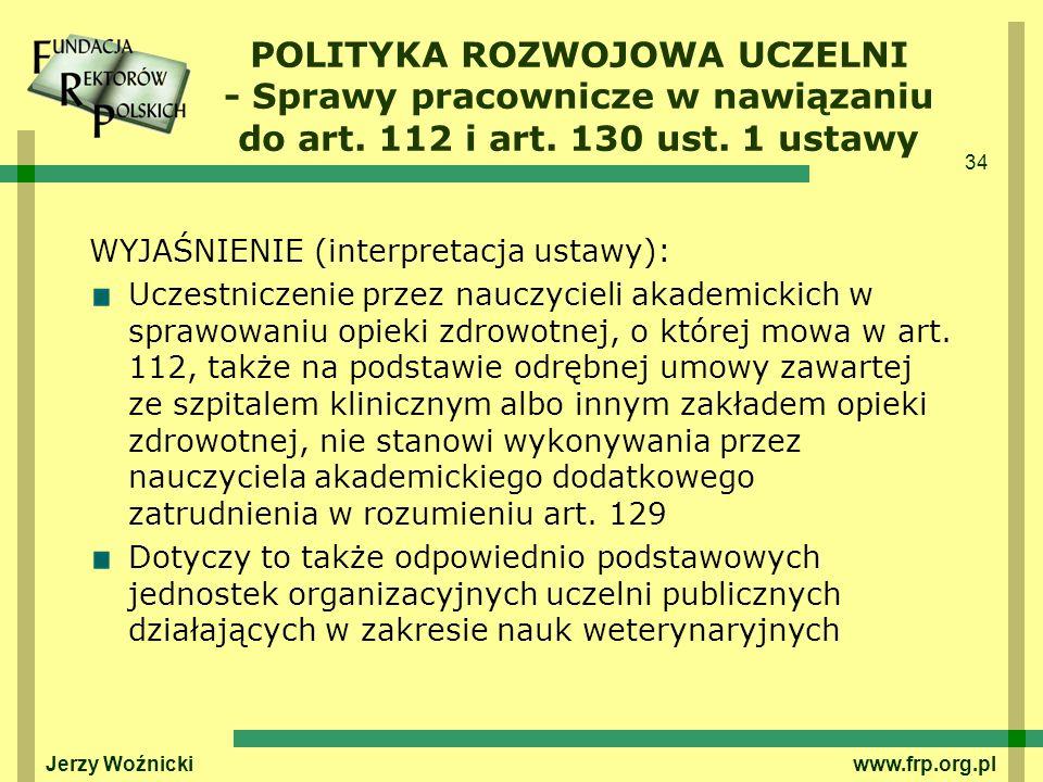 POLITYKA ROZWOJOWA UCZELNI - Sprawy pracownicze w nawiązaniu do art