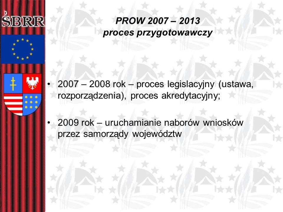 PROW 2007 – 2013 proces przygotowawczy