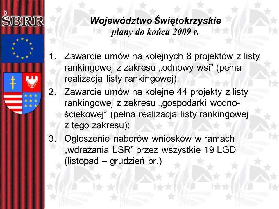 Województwo Świętokrzyskie plany do końca 2009 r.
