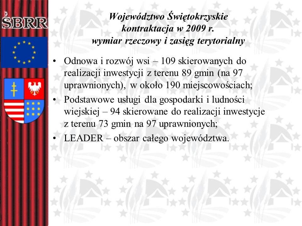 Województwo Świętokrzyskie kontraktacja w 2009 r
