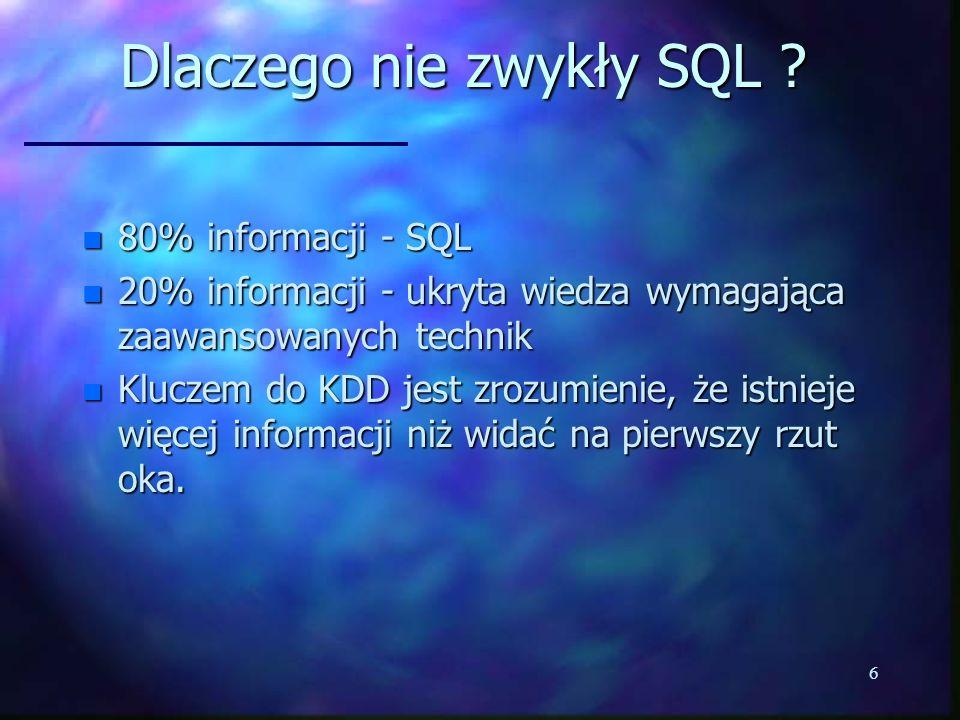 Dlaczego nie zwykły SQL