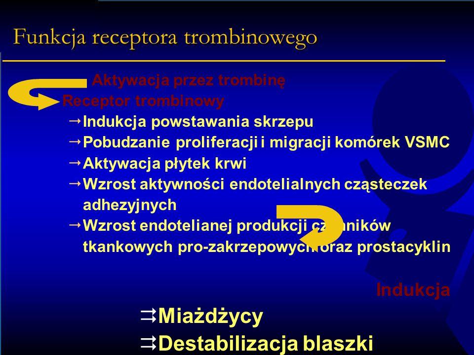Funkcja receptora trombinowego