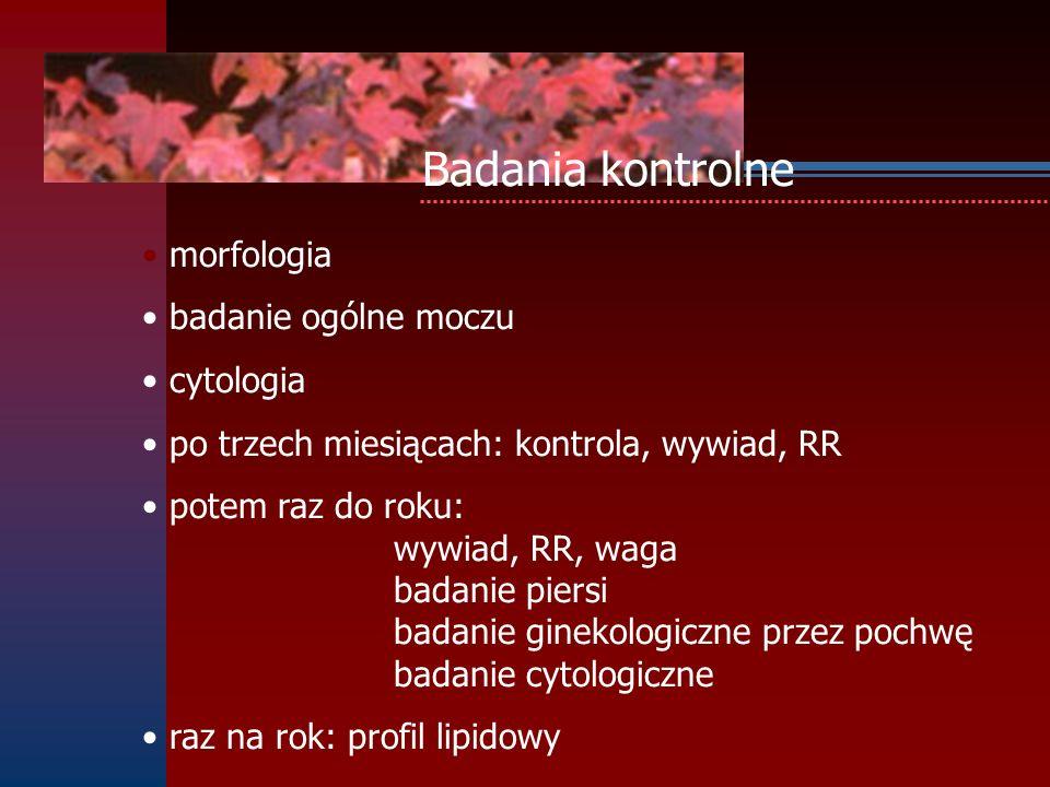 Badania kontrolne morfologia badanie ogólne moczu cytologia