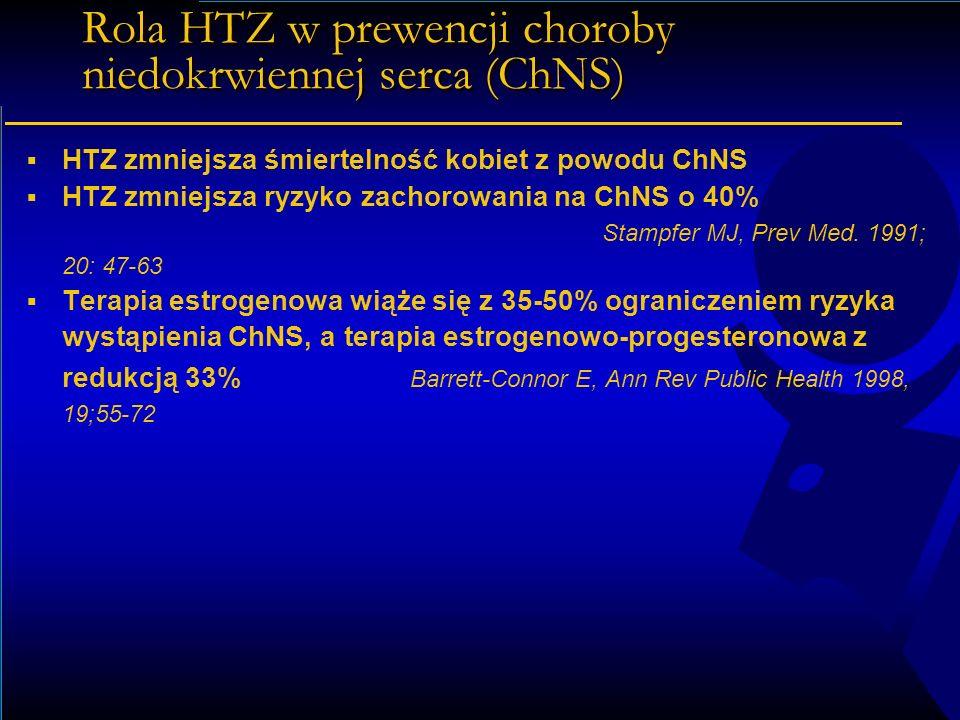 Rola HTZ w prewencji choroby niedokrwiennej serca (ChNS)