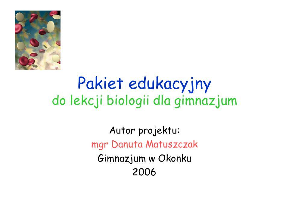 Pakiet edukacyjny do lekcji biologii dla gimnazjum