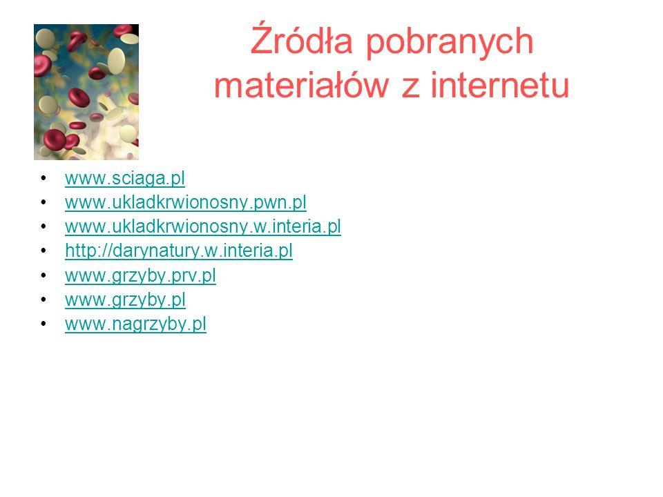 Źródła pobranych materiałów z internetu