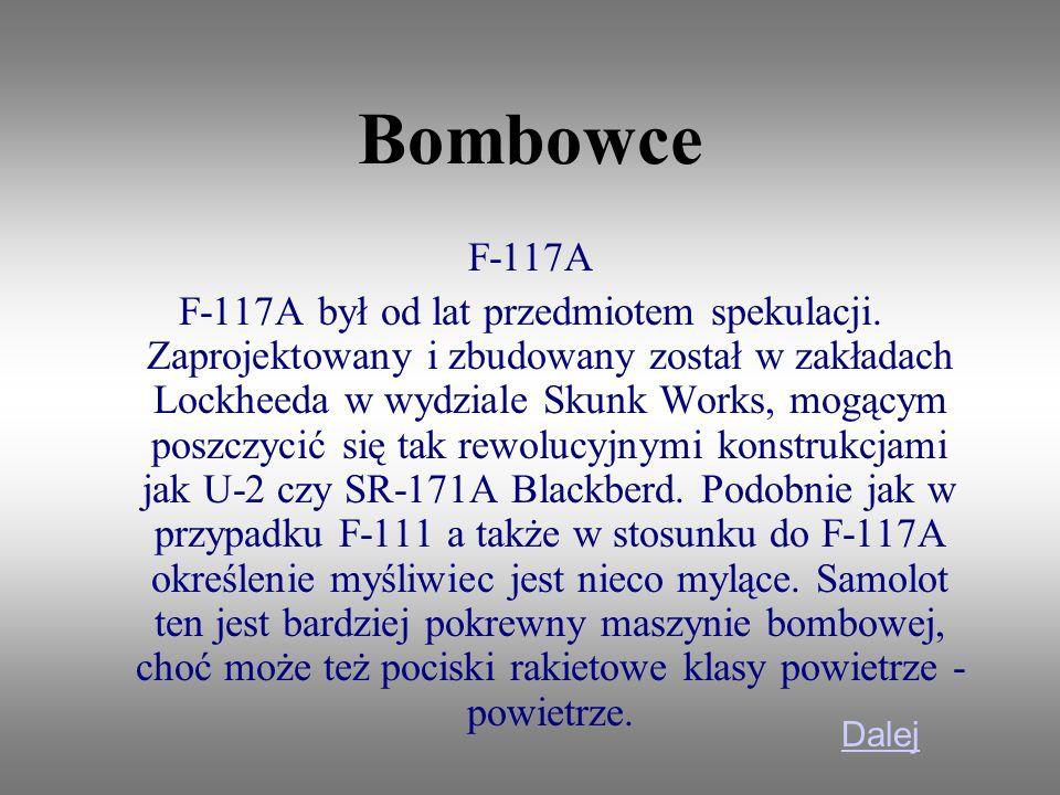 Bombowce F-117A.