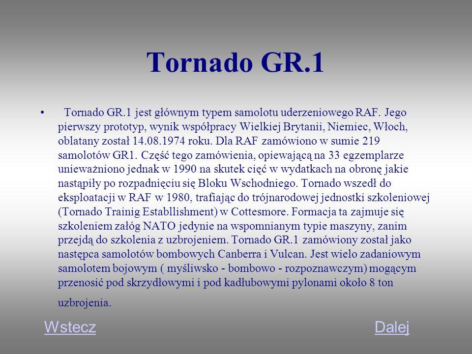 Tornado GR.1 Wstecz Dalej