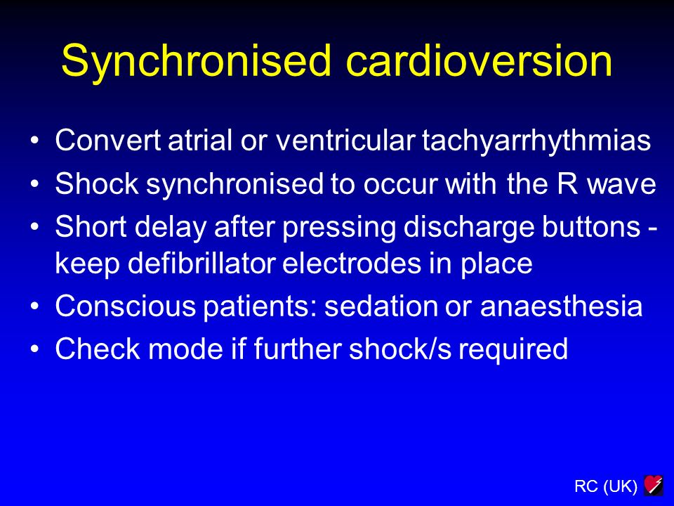 Synchronised cardioversion