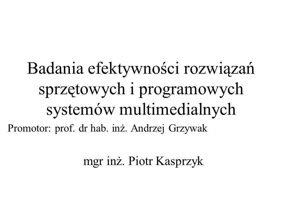 Promotor: prof. dr hab. inż. Andrzej Grzywak mgr inż. Piotr Kasprzyk