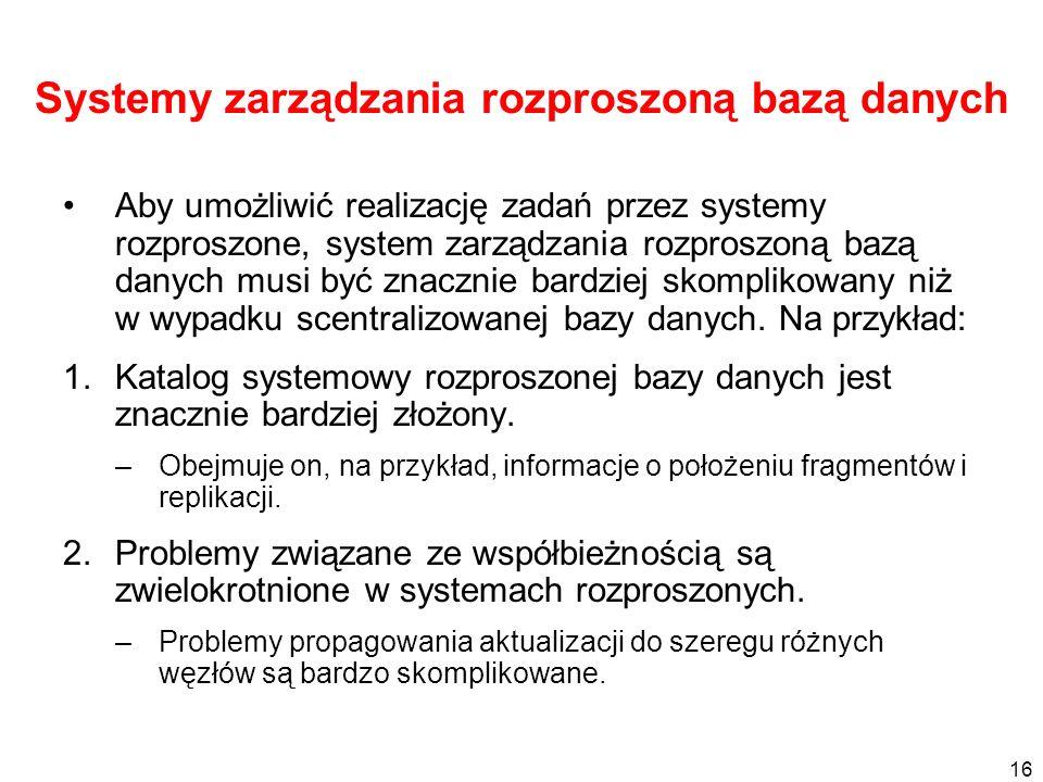 Systemy zarządzania rozproszoną bazą danych