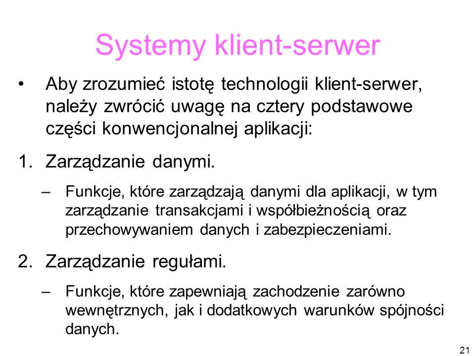 Systemy klient-serwer