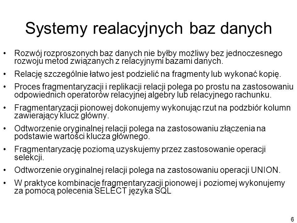Systemy realacyjnych baz danych