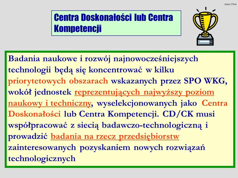 Centra Doskonałości lub Centra Kompetencji