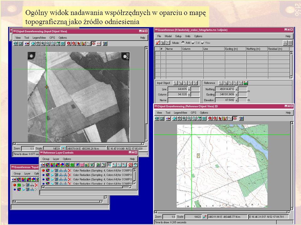 Wprowadzenie DEM i map topograficznej