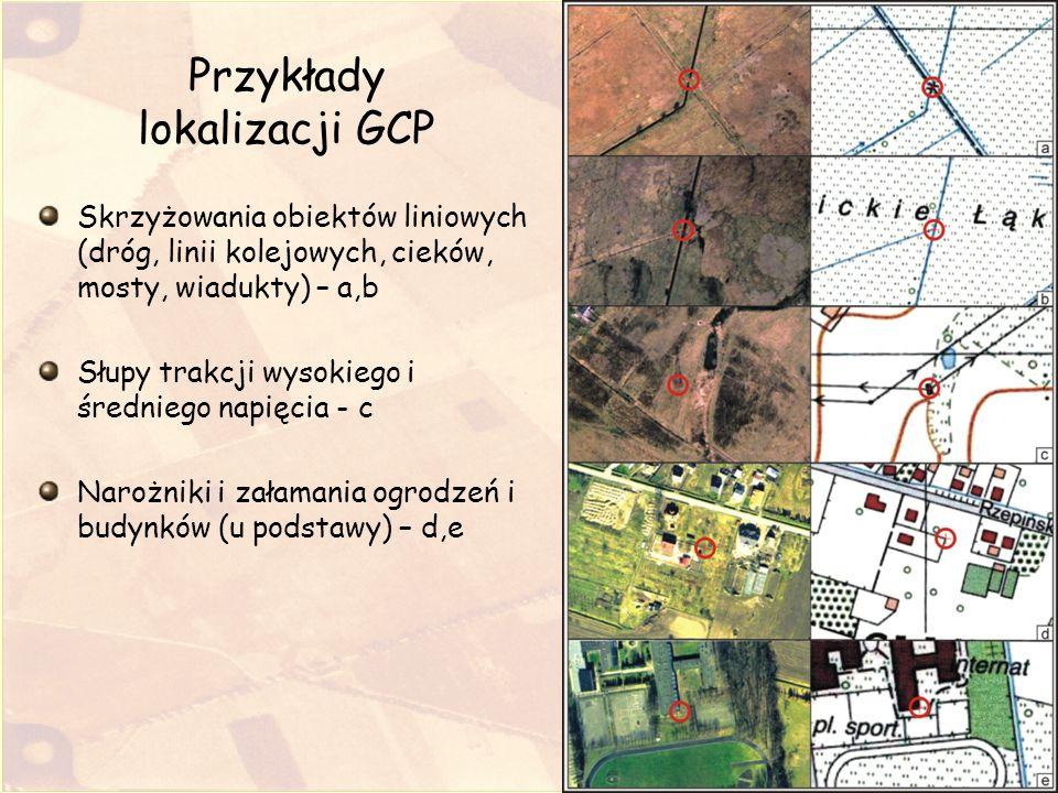 Przykłady lokalizacji GCP
