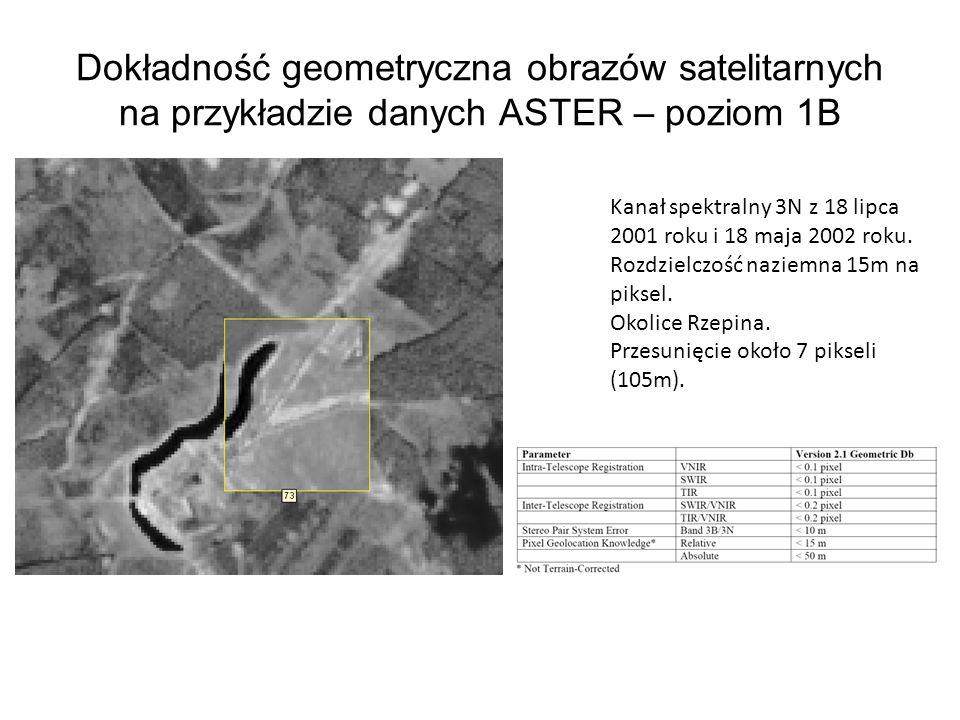 Dokładność geometryczna obrazów satelitarnych na przykładzie danych ASTER – poziom 1B