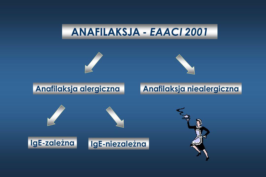 ANAFILAKSJA - EAACI 2001 Anafilaksja alergiczna