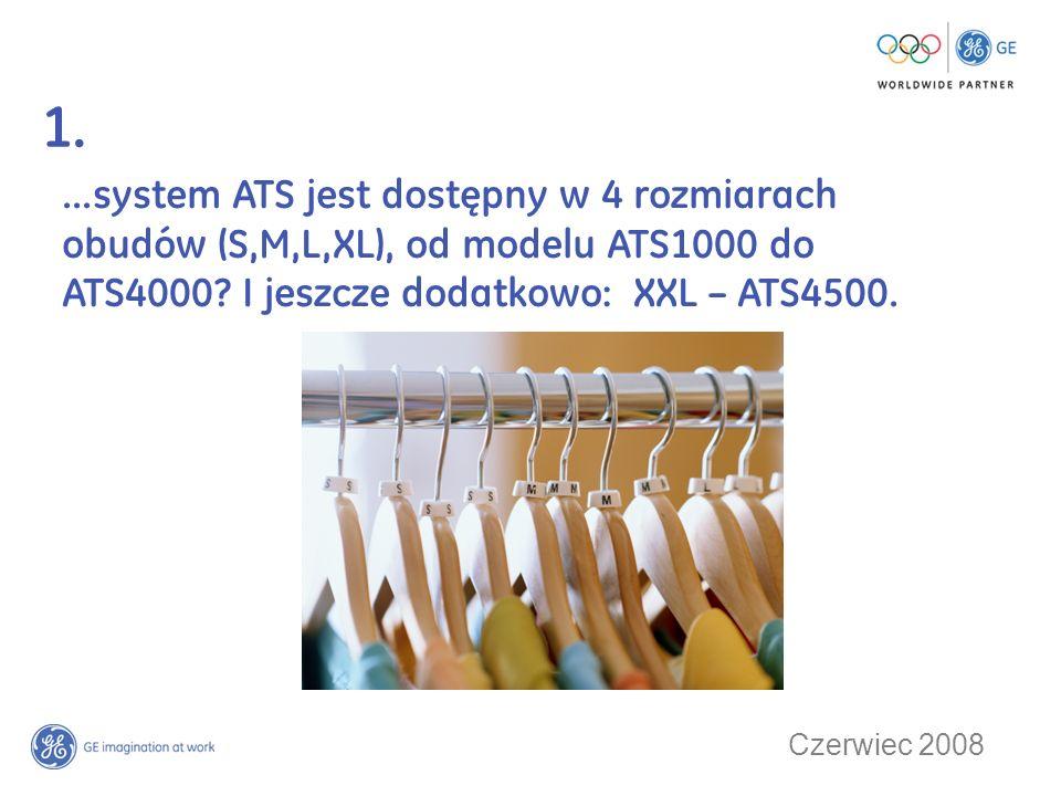 1. ...system ATS jest dostępny w 4 rozmiarach obudów (S,M,L,XL), od modelu ATS1000 do ATS4000 I jeszcze dodatkowo: XXL – ATS4500.
