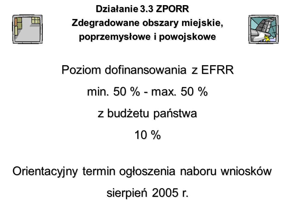 Orientacyjny termin ogłoszenia naboru wniosków sierpień 2005 r.