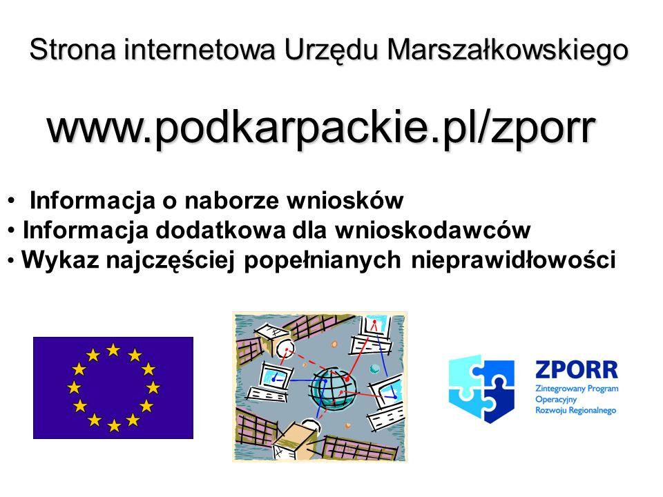Strona internetowa Urzędu Marszałkowskiego
