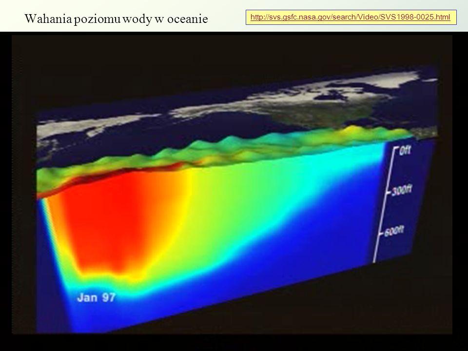Wahania poziomu wody w oceanie