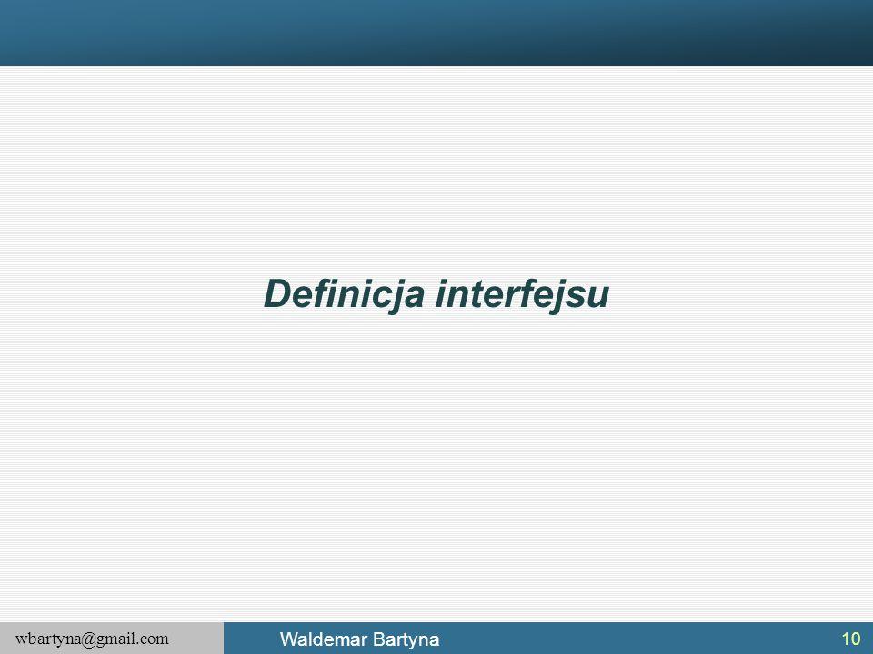 Definicja interfejsu