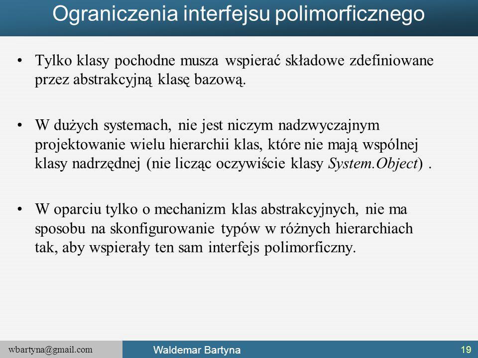 Ograniczenia interfejsu polimorficznego