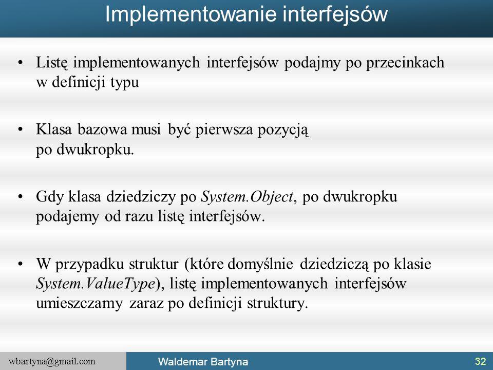 Implementowanie interfejsów