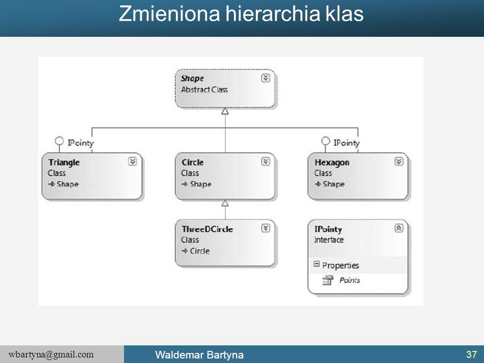 Zmieniona hierarchia klas